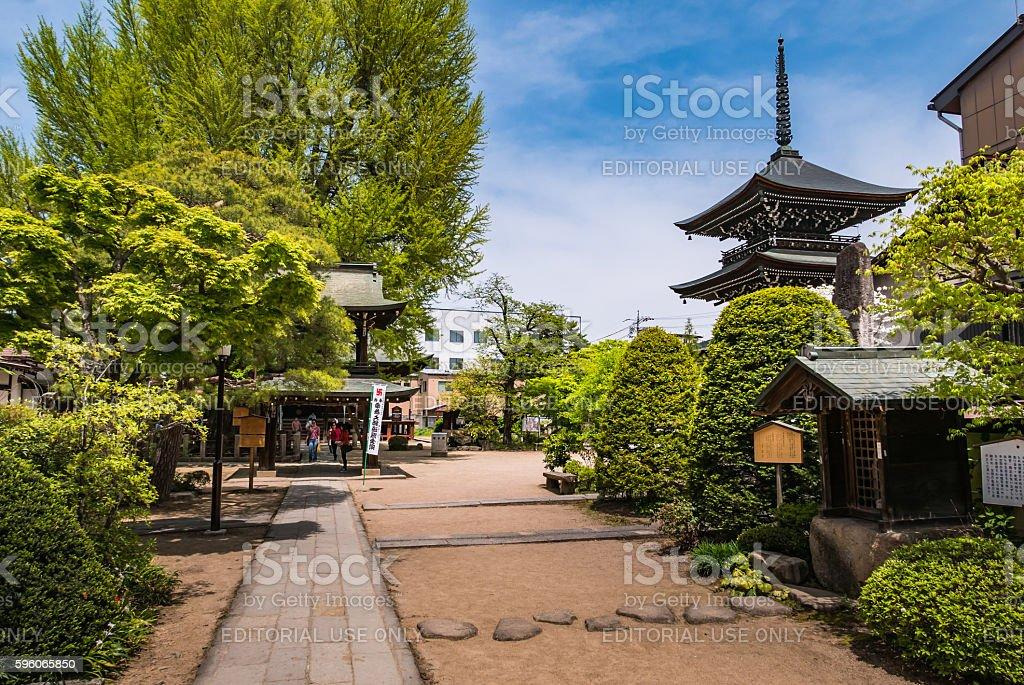 Hida Kokubunji Temple, Takayama, Japan royalty-free stock photo