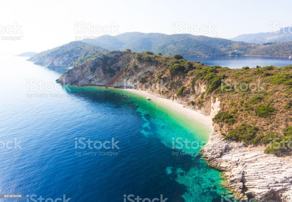 Hidden beach stock photo