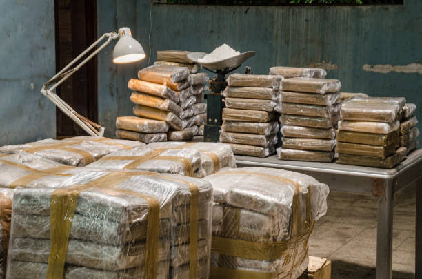 Hidden Cocaine warehouse Illegal drug production cocaine stock pictures, royalty-free photos & images
