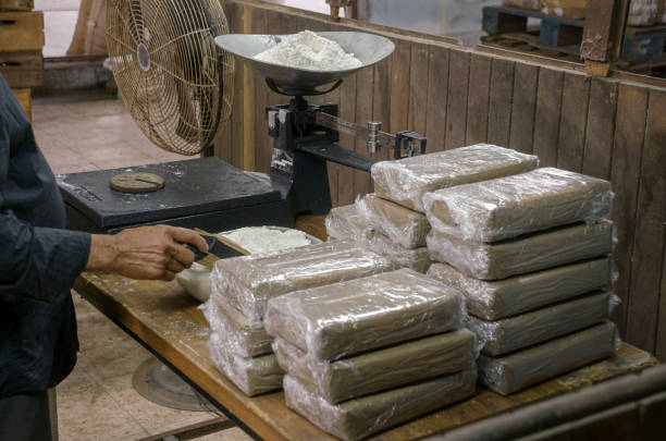 Hidden Cocaine warehouse Illegal drug production drug cartel stock pictures, royalty-free photos & images