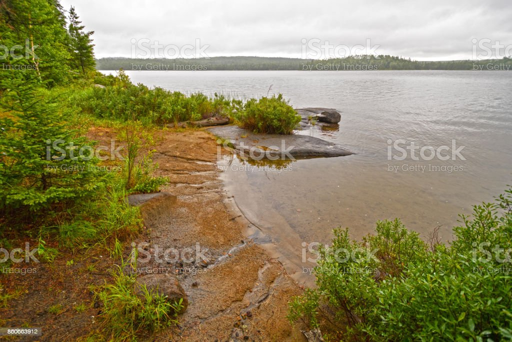 Hidden Cove on Tuscarora Lake stock photo