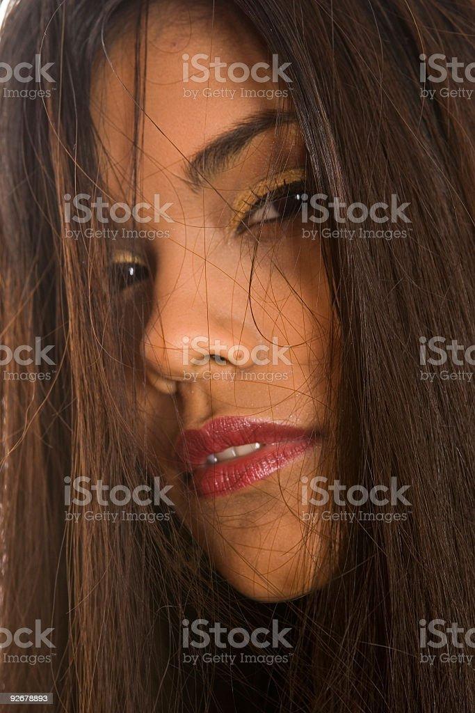 hidden face royalty-free stock photo
