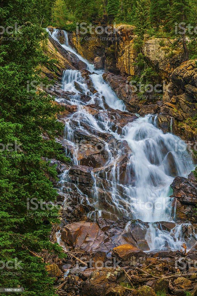 Hidden Falls - Grant Teton stock photo