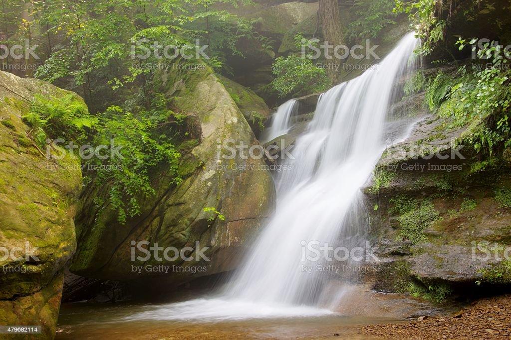 Hidden Falls in Hocking Hills State Park in Ohio stock photo