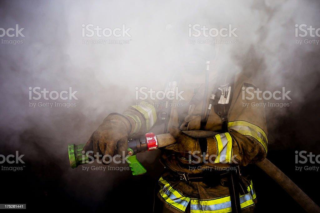 Hidden Firefighter stock photo