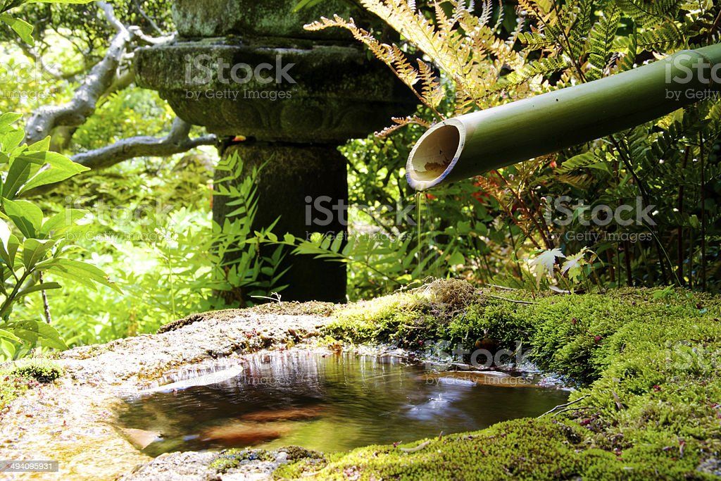 Hidden Fountain stock photo