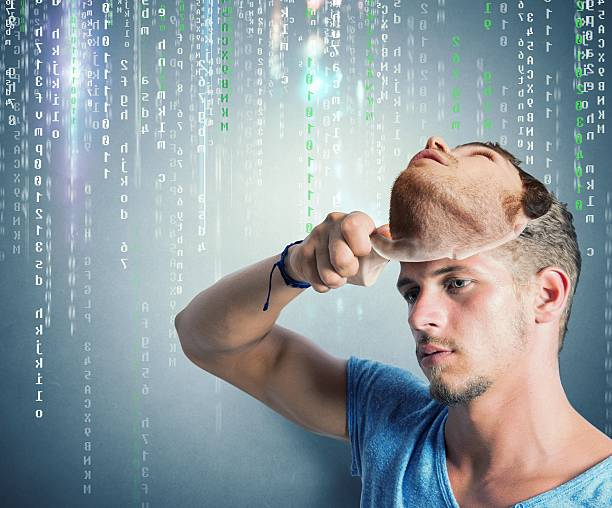 Hidden identidade de um hacker - foto de acervo