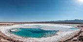 Hidden lagoons of Baltinache, Atacama Desert, Chile