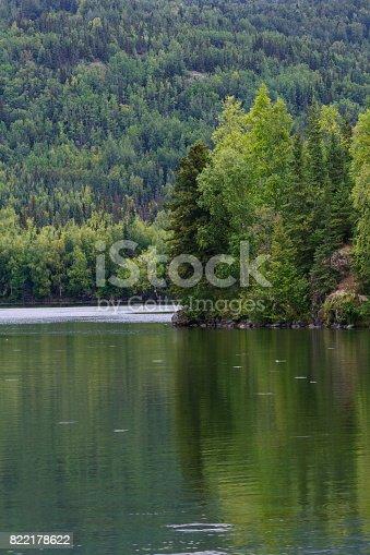 Hidden Lake reflects summer in Alaska at Kenai National Wildlife Refuge.