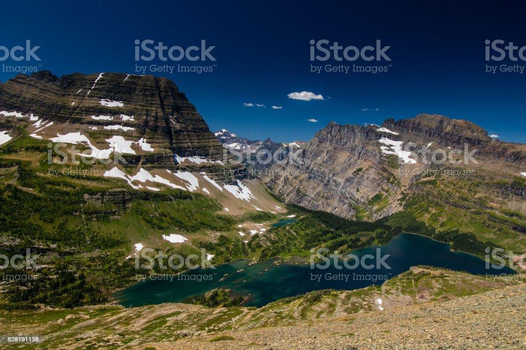 Hidden Lake Overlook stock photo