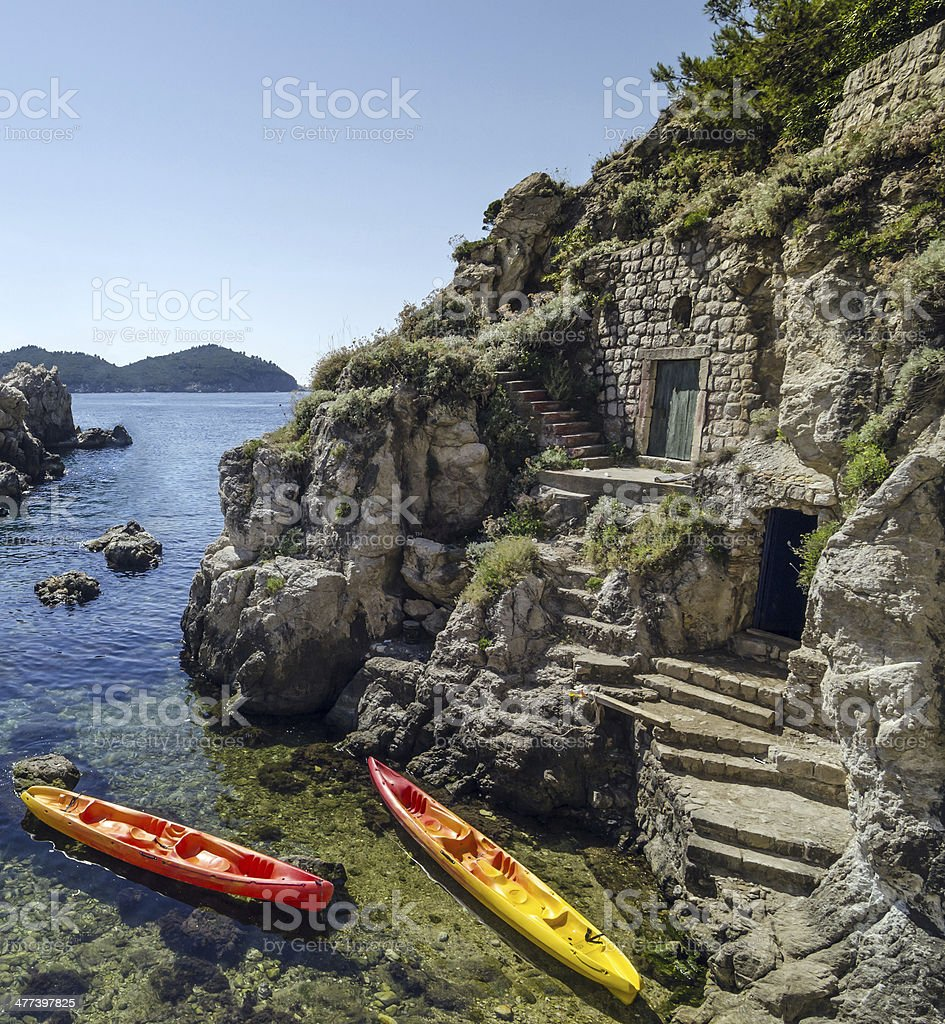 Hidden places stock photo