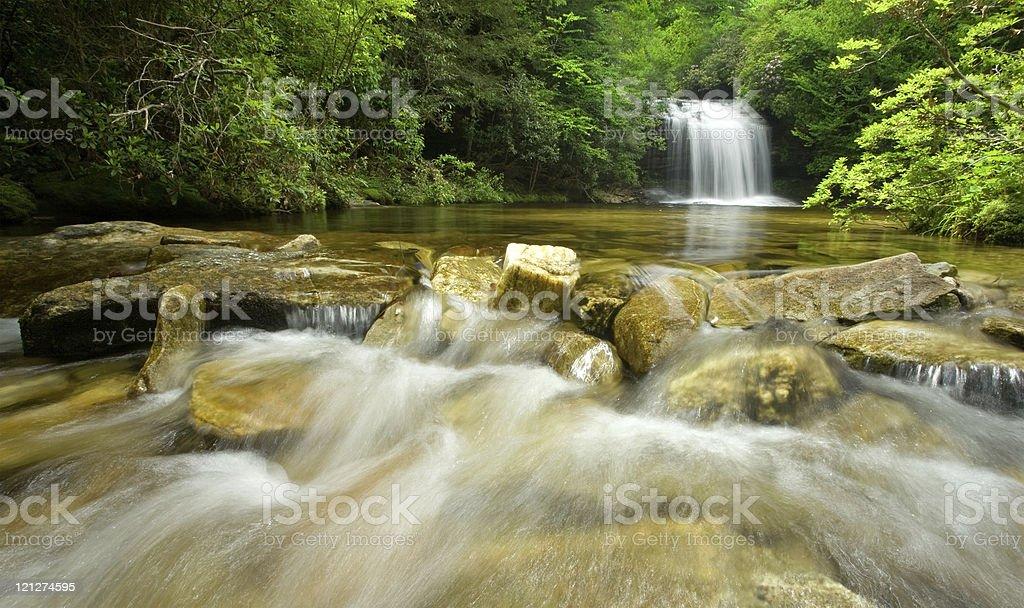 Hidden Rainforest Waterfall royalty-free stock photo