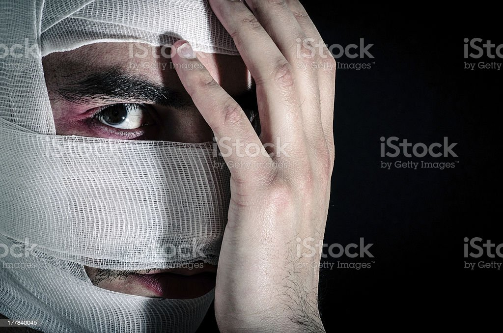 Hidden scars. royalty-free stock photo