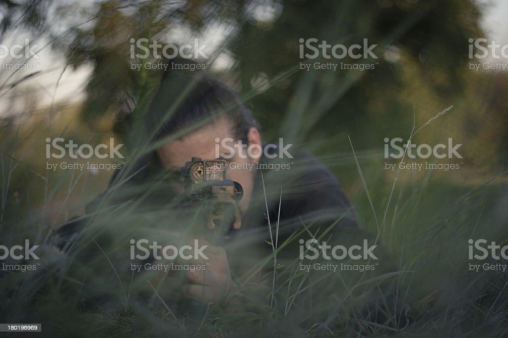 Hidden Sniper royalty-free stock photo