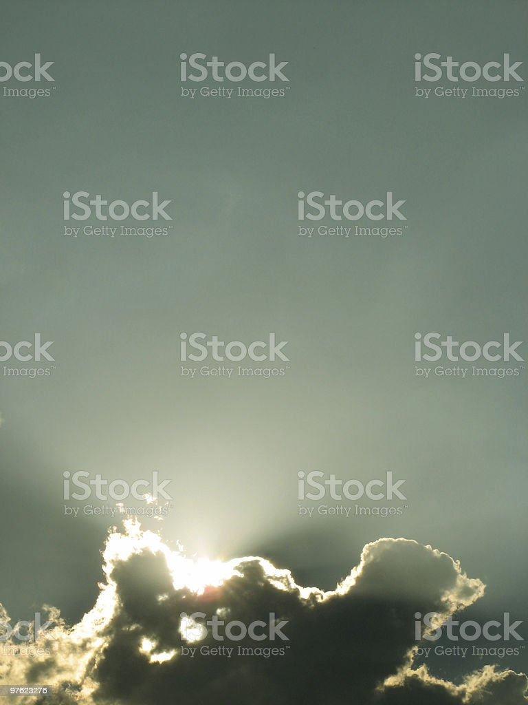 Hidden sun royalty-free stock photo