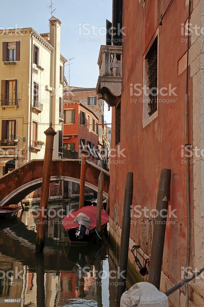 Hidden Venetian channel royalty-free stock photo