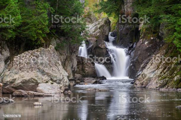 Photo of Hidden waterfall in the woods of Northern Vermont, USA