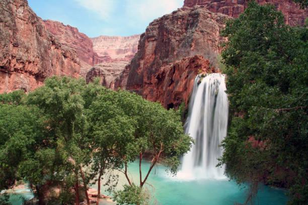Hidden Waterfall stock photo
