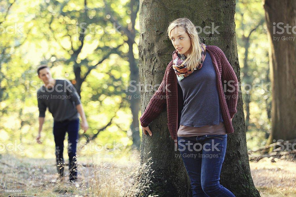 hide and seek stock photo