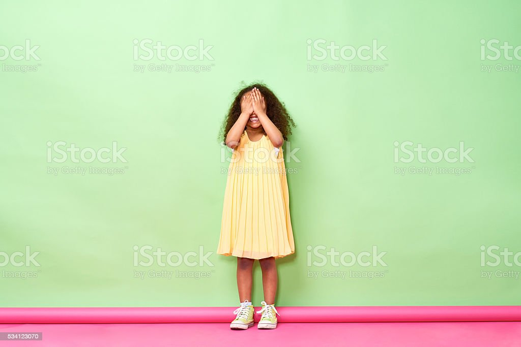Hide-and-seek stock photo