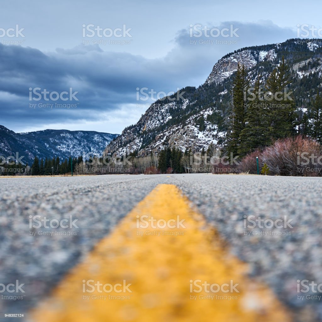 Cache la Poudre Canyon stock photo