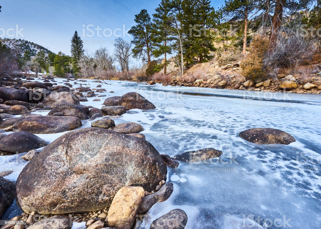 Cache la Poudre River stock photo