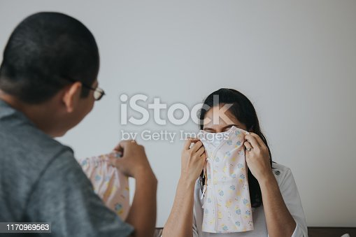 hiding, playful, Love, family, father, mother, Textile, Human Abdomen, Store, Baby - Human Age, Thailand, Pregnant, Anticipation, Couple - Relationship, Customer