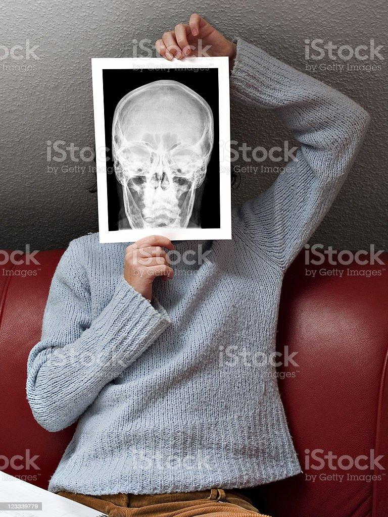 Hiding behind X-Ray royalty-free stock photo