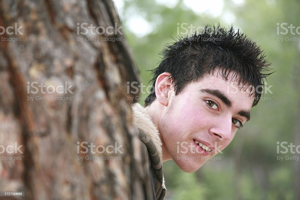 Hiding Boy royalty-free stock photo