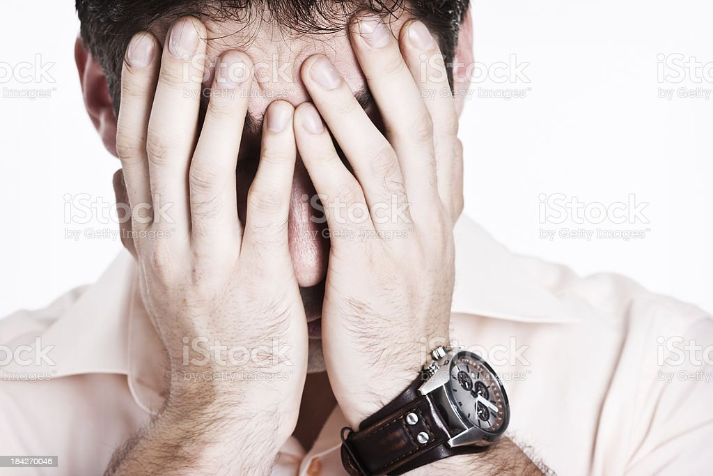 Hiding From Problems royalty-free stock photo
