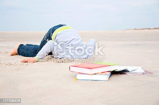 istock Hiding Head In Sand 177703478