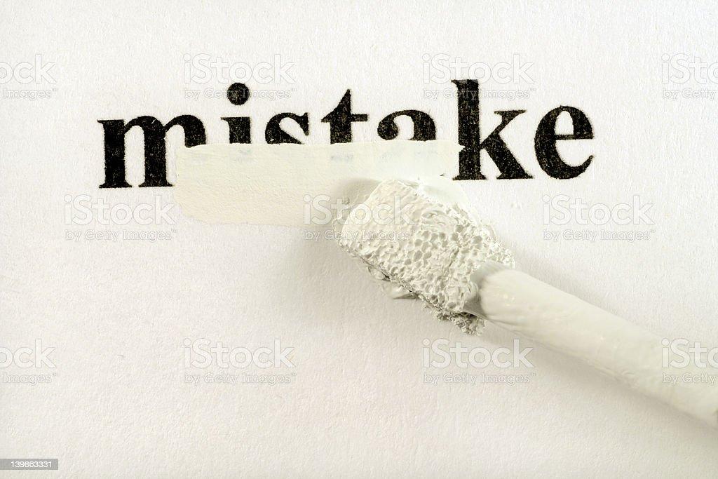 hiding mistakes stock photo