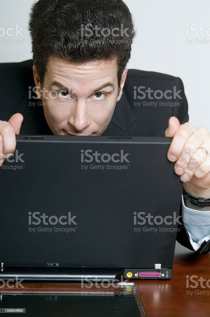 Hiding royalty-free stock photo