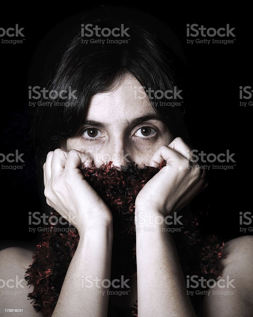 hiding stock photo