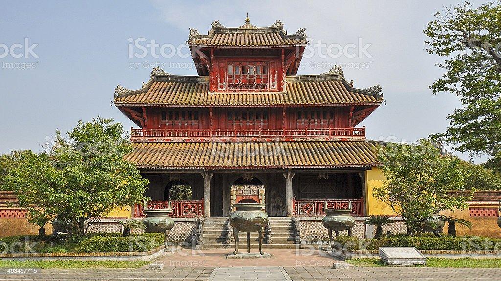 Hien Lam Pavilion - Hue, Vietnam stock photo