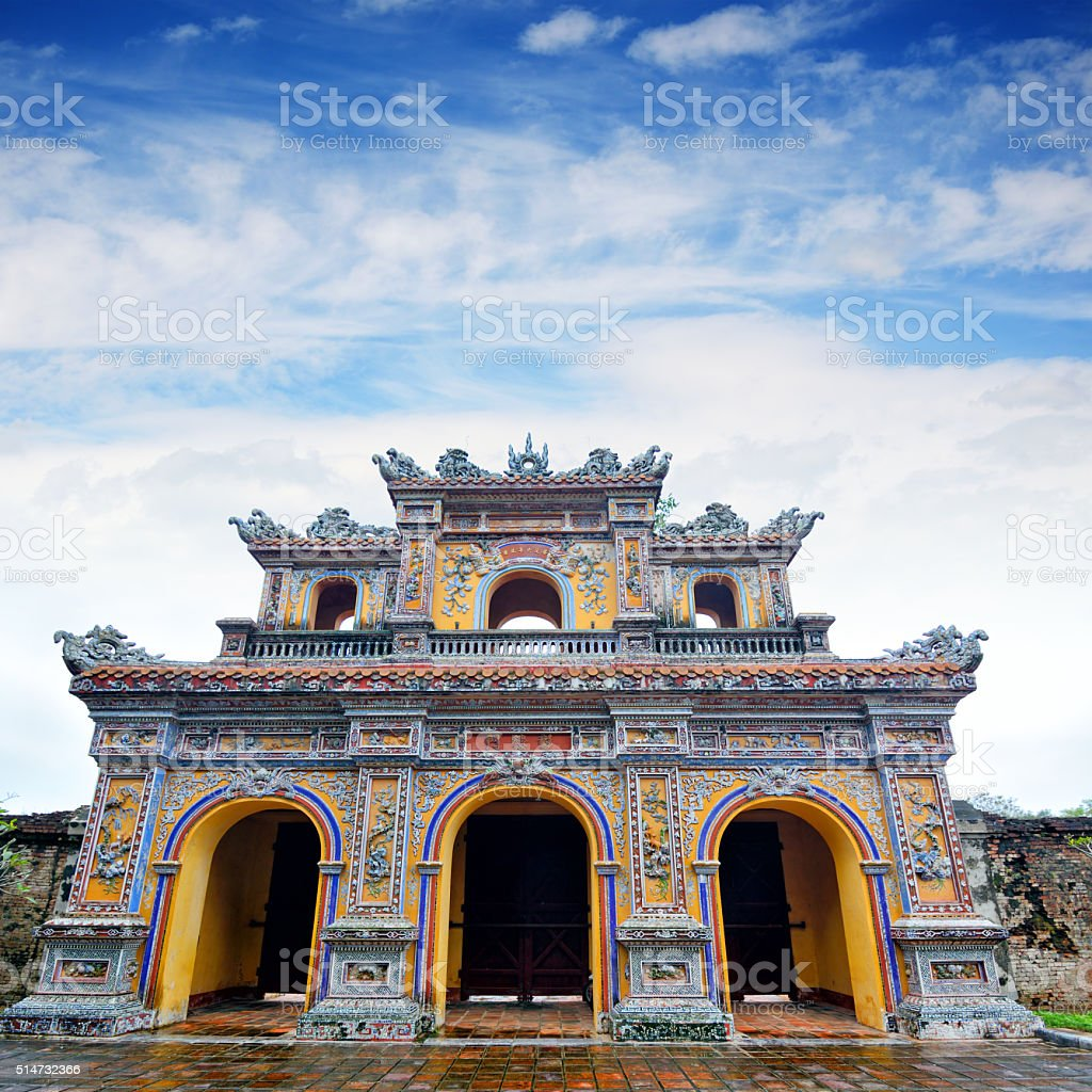 Hien Nhon Gate, Hue stock photo