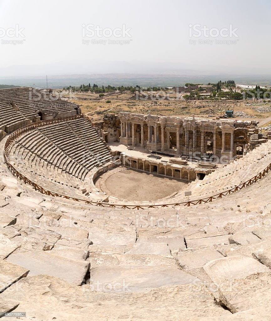 Hierapolis amphitheater stock photo