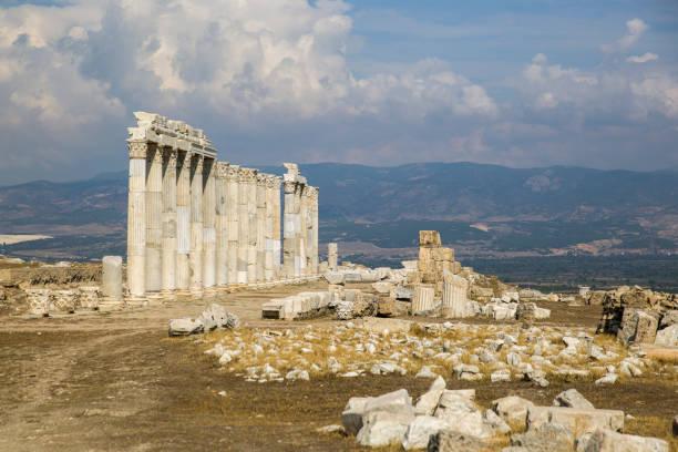 Denizli Pamukkale Hierapolis antik kenti stok fotoğrafı