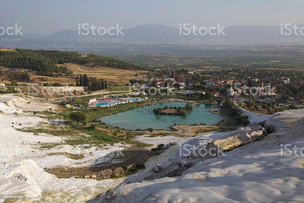 Hierapolis Travertine view stock photo