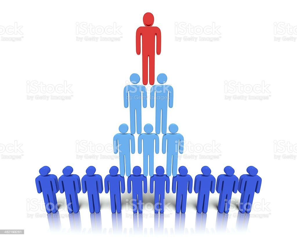 Hierarchy of people. royalty-free stock photo