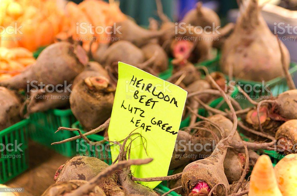 Hierloom Produce at Farmers Market royalty-free stock photo