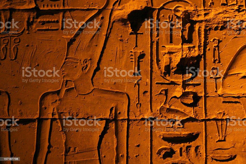 Hieroglifs stock photo