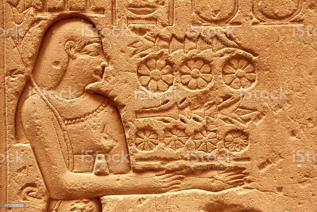 Hieroglyph stock photo