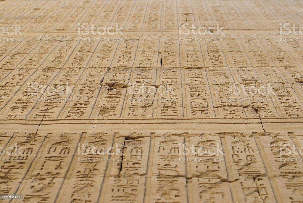 Hieroglyph royalty-free stock photo