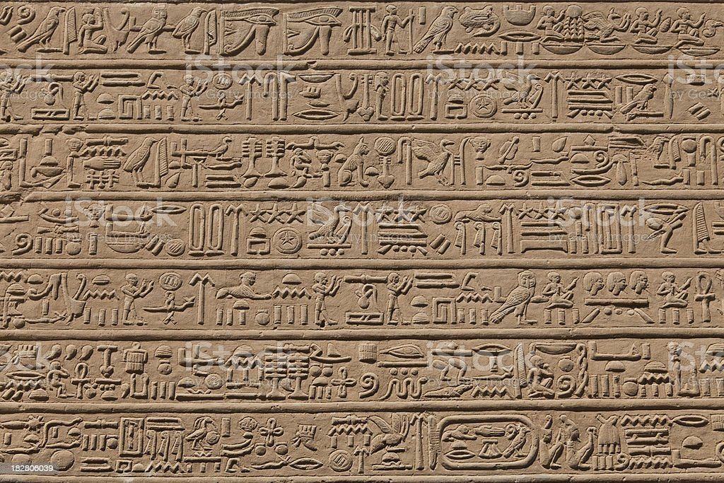 hieroglyphic stock photo