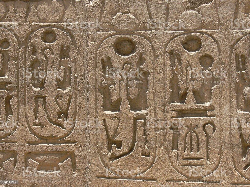 Hieroglyphics in Karnak Temple royalty-free stock photo
