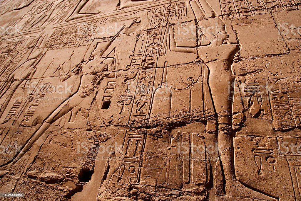 Hieroglyphics, Karnak Temple Luxor royalty-free stock photo