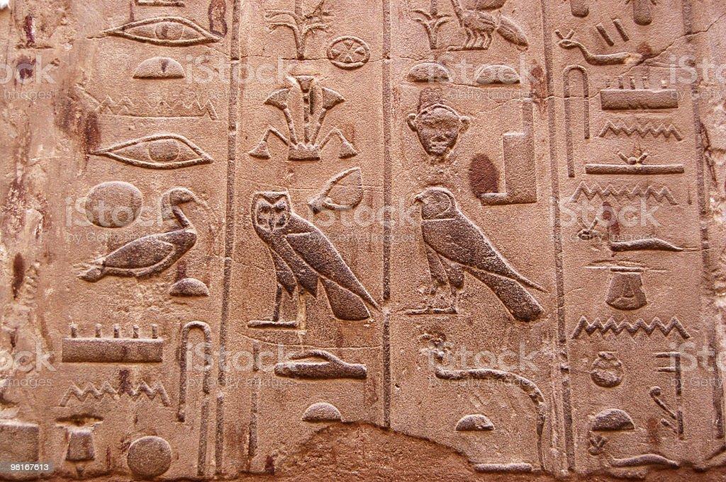 Hieroglyphics, Luxor royalty-free stock photo