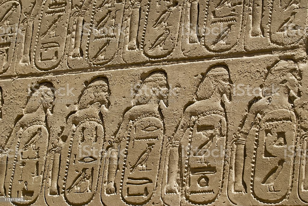 Hieroglyphics on the wall royalty-free stock photo