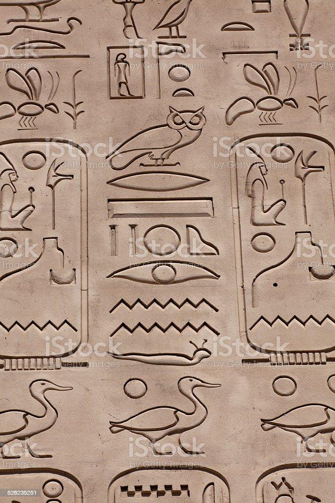 Hieroglyphics stock photo